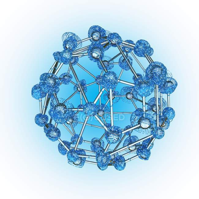 Atomic structure and atomic connectivity — Stock Photo