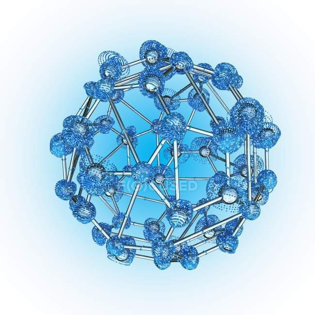 Атомна структура та атомної зв'язок — стокове фото