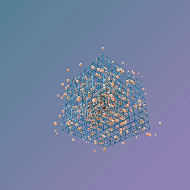 Зв'язків між атомами — стокове фото