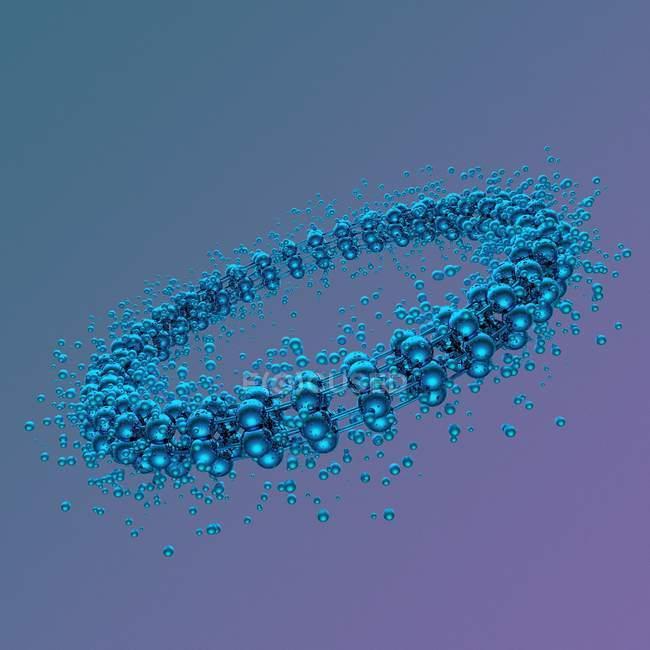 Structure atomique, illustration — Photo de stock