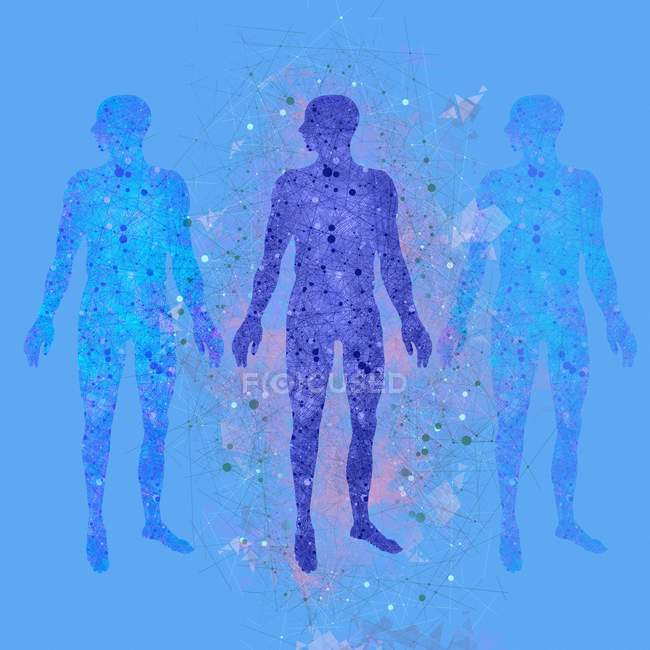 Atomic structure of the human body — Stock Photo