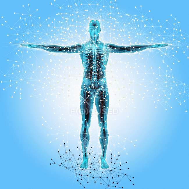 Atomic structure of the body — Stock Photo
