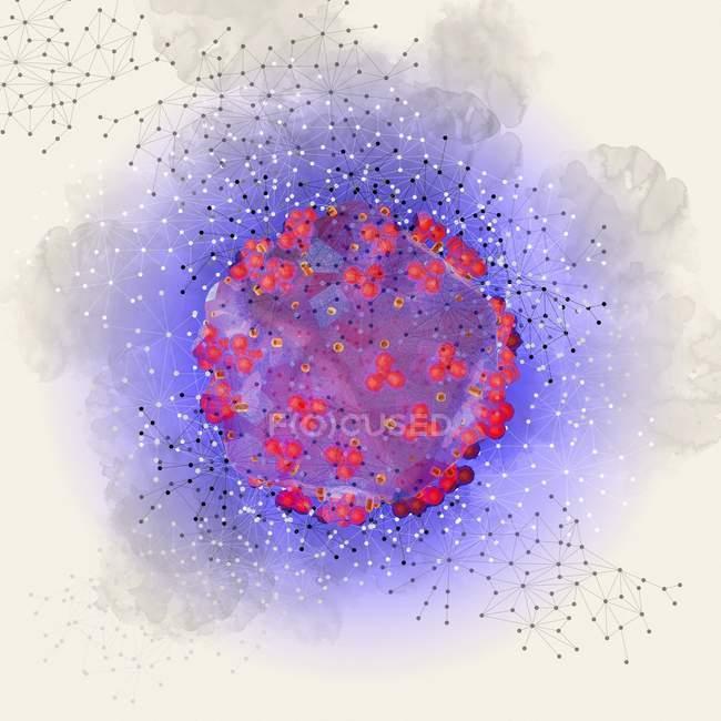 Virus HIV, illustrazione — Foto stock