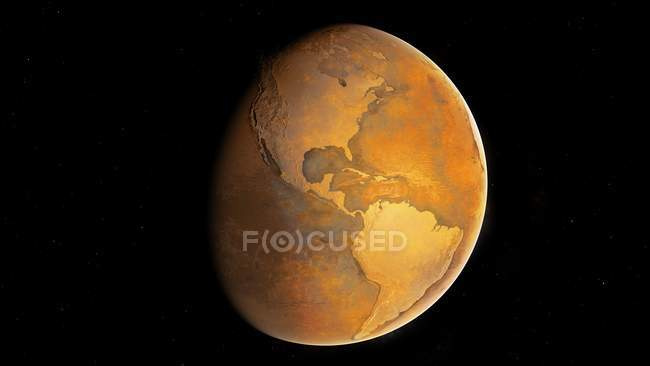 Illustration of Earth without water. — Stock Photo