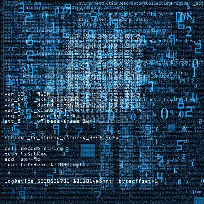 Abstract illustration of computer code. — Stock Photo