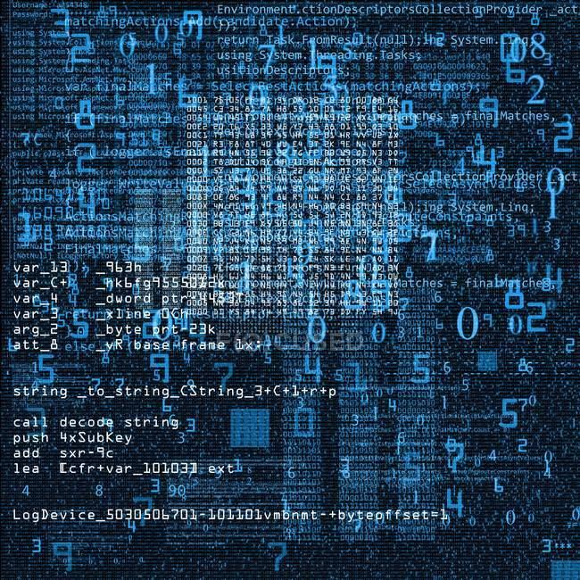 Illustration abstraite du code informatique . — Photo de stock