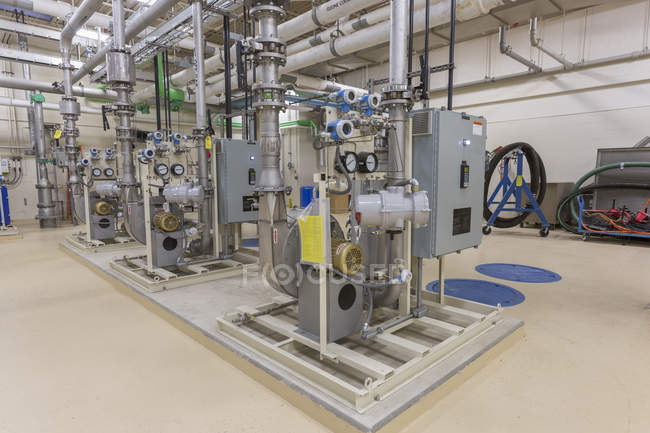 Water treatment plant chemical equipment. — Stock Photo
