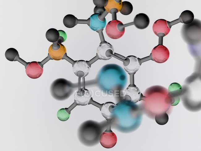 Molecular structure illustrating pure research. — Stock Photo