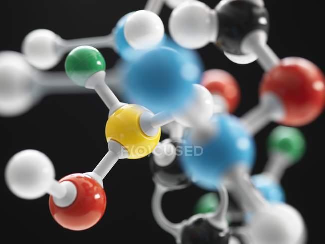 Molekularstruktur, die reine Forschung veranschaulicht. — Stockfoto