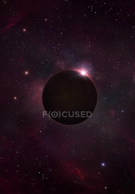 Digital illustration of black dwarf stellar remnant. — Stock Photo