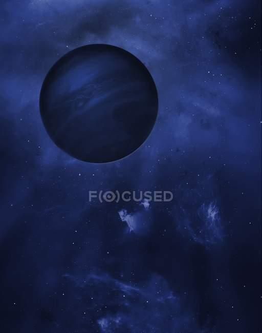 Digitale Illustration des frei schwebenden Planeten — Stockfoto