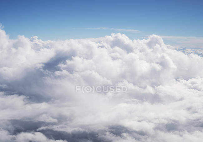 Natural pattern of cloudscape in blue sky, aerial view — Stock Photo
