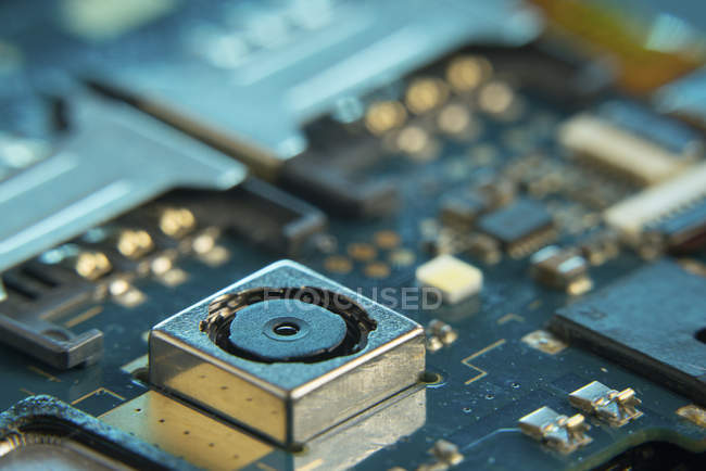 Mobile phone circuit board, full frame. — Stock Photo
