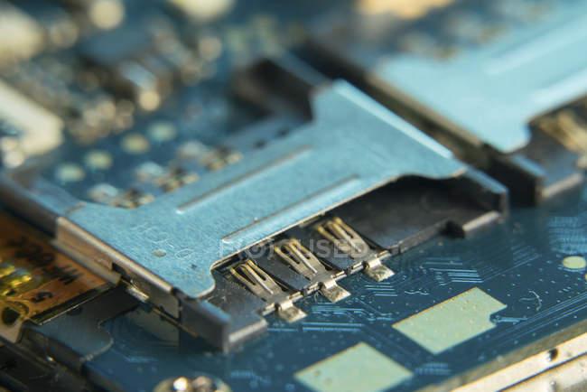 Circuito del telefono cellulare, full frame . — Foto stock