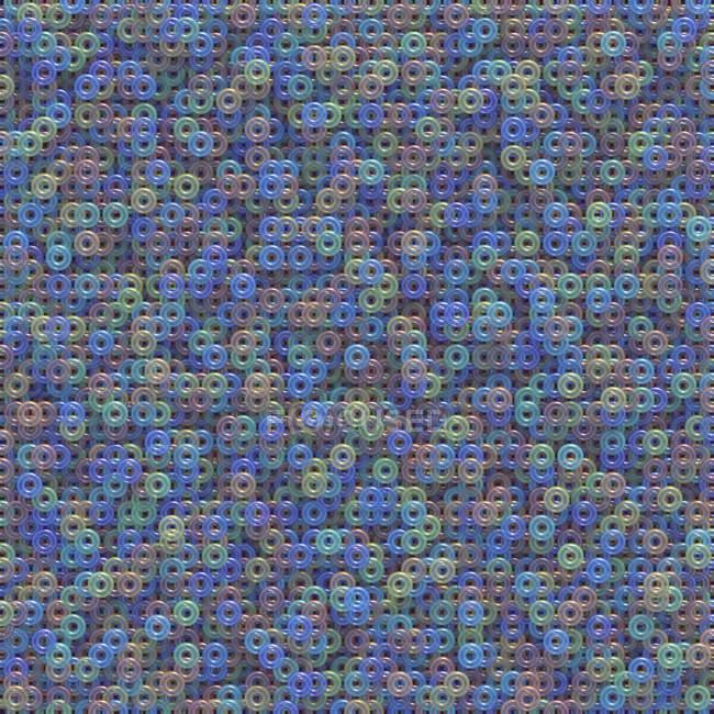 Círculos multicolores de interconexión, Ilustración - foto de stock