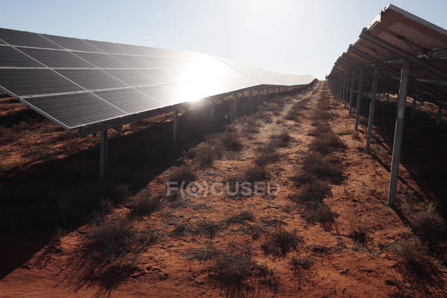 Solar power plant in Vredendal, Western Cape, South Africa. — Stock Photo