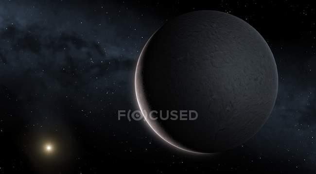 Карликовая планета Церера в поясе астероидов, Иллюстрация — стоковое фото