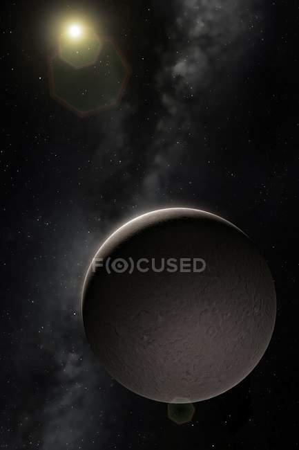Planeta enano de Ceres en el espacio, Ilustración - foto de stock