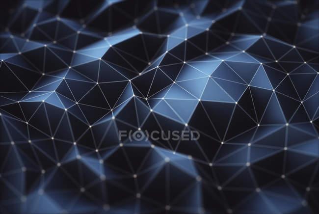 Reticolo geometrico della priorità bassa, illustrazione digitale. — Foto stock