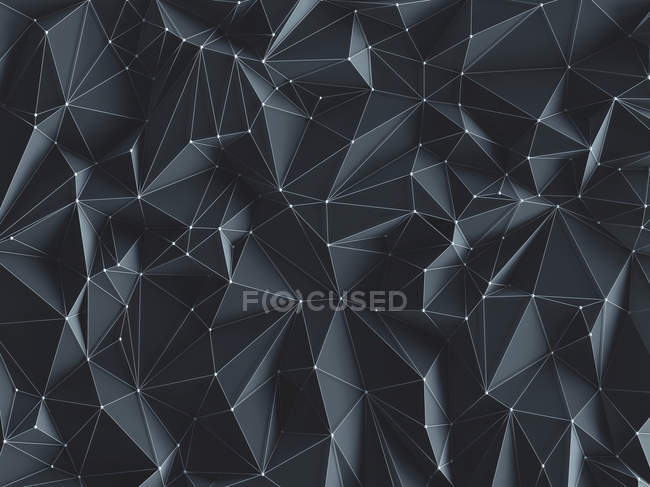 Abstract geometric background with dots and lines, illustration. — Stock Photo