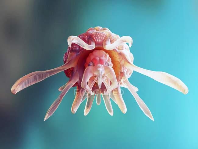 Illustration du monstre cancer conceptuel abstrait. — Photo de stock