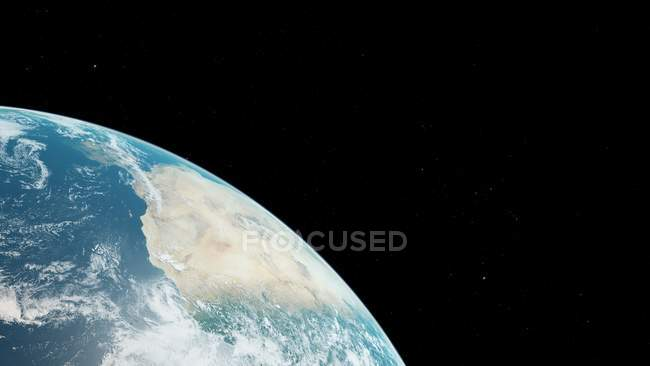 Illustration of Earth planet surface from space. — Stock Photo