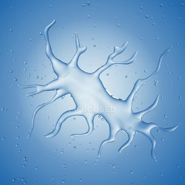 Vergrößerte digitale Darstellung der dendritischen Zelle. — Stockfoto