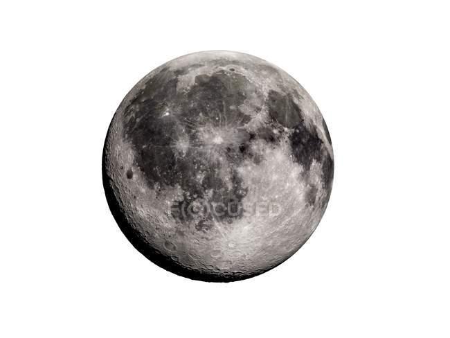 Digitale Illustration des Mondes auf weißem Hintergrund. — Stockfoto