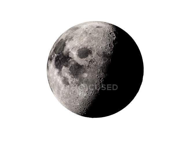 Digital illustration of Moon in shadow on white background. — Stock Photo