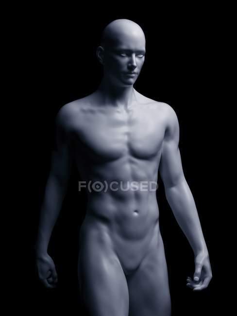 Illustration of human body on black background. — Stock Photo