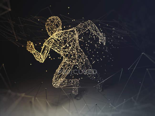 Силуэт искусственного интеллекта, концептуальная иллюстрация . — стоковое фото