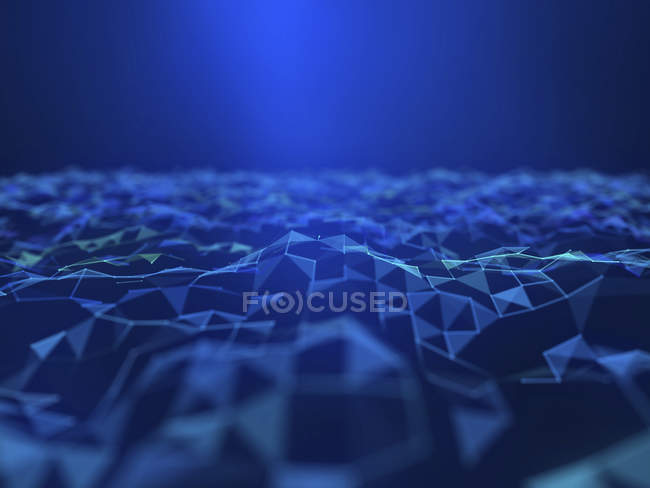 Illustration of abstract digital futuristic plexus plain. — Stock Photo