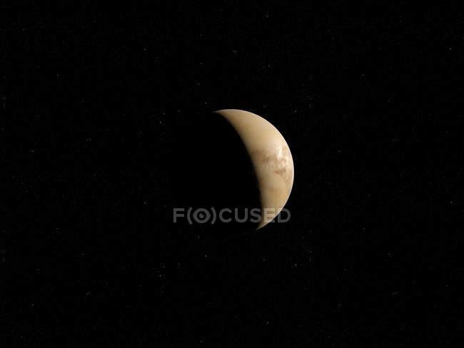 Ilustração de Vênus na sombra em fundo preto. — Fotografia de Stock