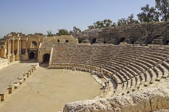 Beit Shean ruines du théâtre romain en Israël . — Photo de stock