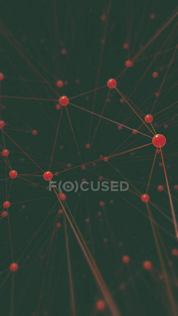 3d illustration of hundreds of points connected to each other with lines. — Stock Photo