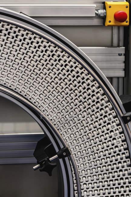 Industrial conveyor system in modern industrial facility. — стокове фото