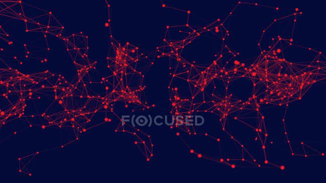Abstrakt strukturiertes Netzwerk, digitale Illustration. — Stockfoto