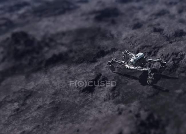 Vehículo en la superficie de la luna, ilustración científica digital . - foto de stock