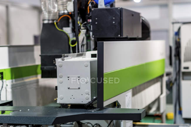 CNC woodworking machine in modern industrial facility. — Stock Photo