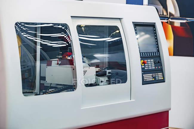 External thread grinder machine in modern industrial facility. — Stock Photo
