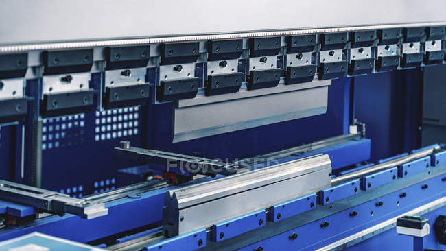 Press brake machine in modern industrial facility. — Stock Photo