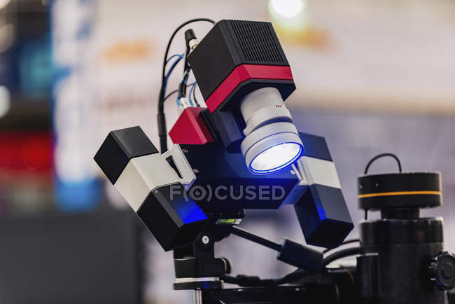 3D motion and deformation sensor in modern industrial facility. — Stock Photo