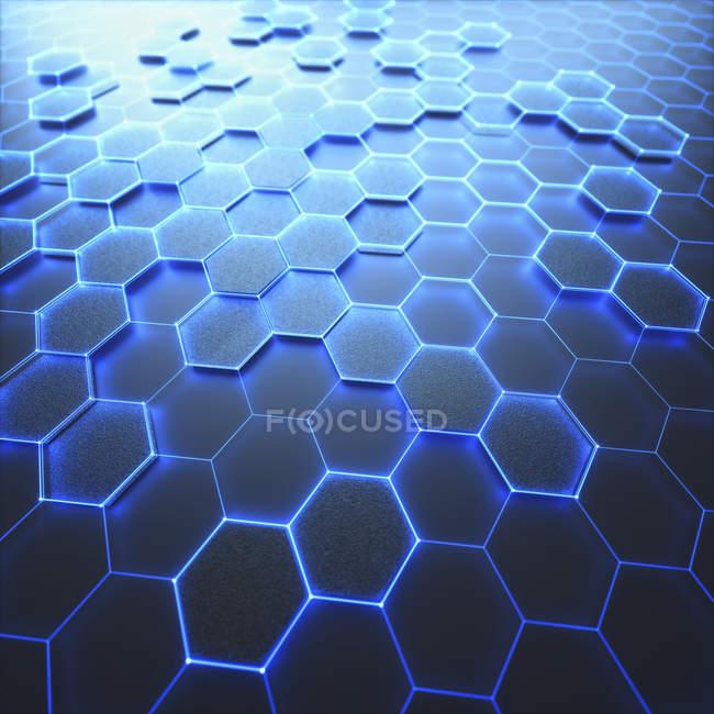 Graphene sheet, conceptual digital illustration. — Stock Photo