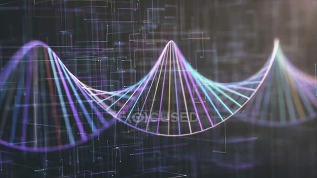 Molécula de ADN, ilustración digital abstracta . - foto de stock