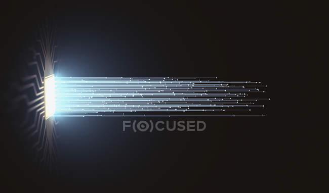 Inteligência artificial, ilustração digital conceitual . — Fotografia de Stock
