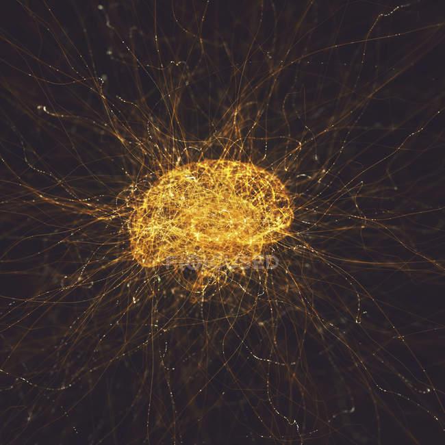Neural network, conceptual digital illustration. — Stock Photo