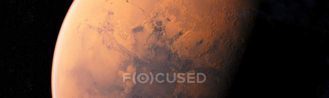 Surface of red planet of Mars, computer illustration. — Stock Photo