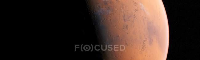 Superficie del planeta rojo de Marte, ilustración por ordenador . - foto de stock