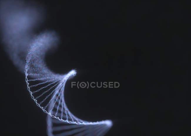 Ruining DNA molecule, genetic disorder conceptual illustration. — Stock Photo