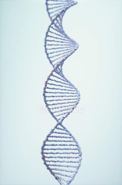 Abstract DNA molecule, 3d digital illustration. — Photo de stock